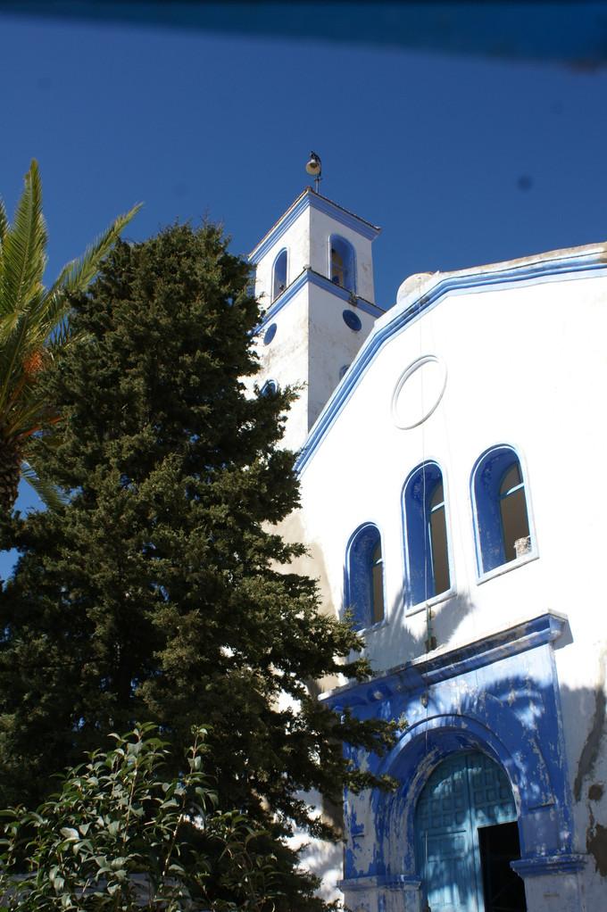 Wir entdecken sogar eine Kirche, die gerade renoviert wird.