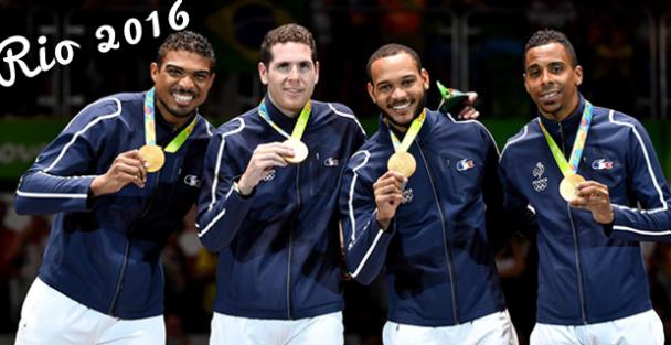 L'équipe de France épée homme championne olympique médaille d'or