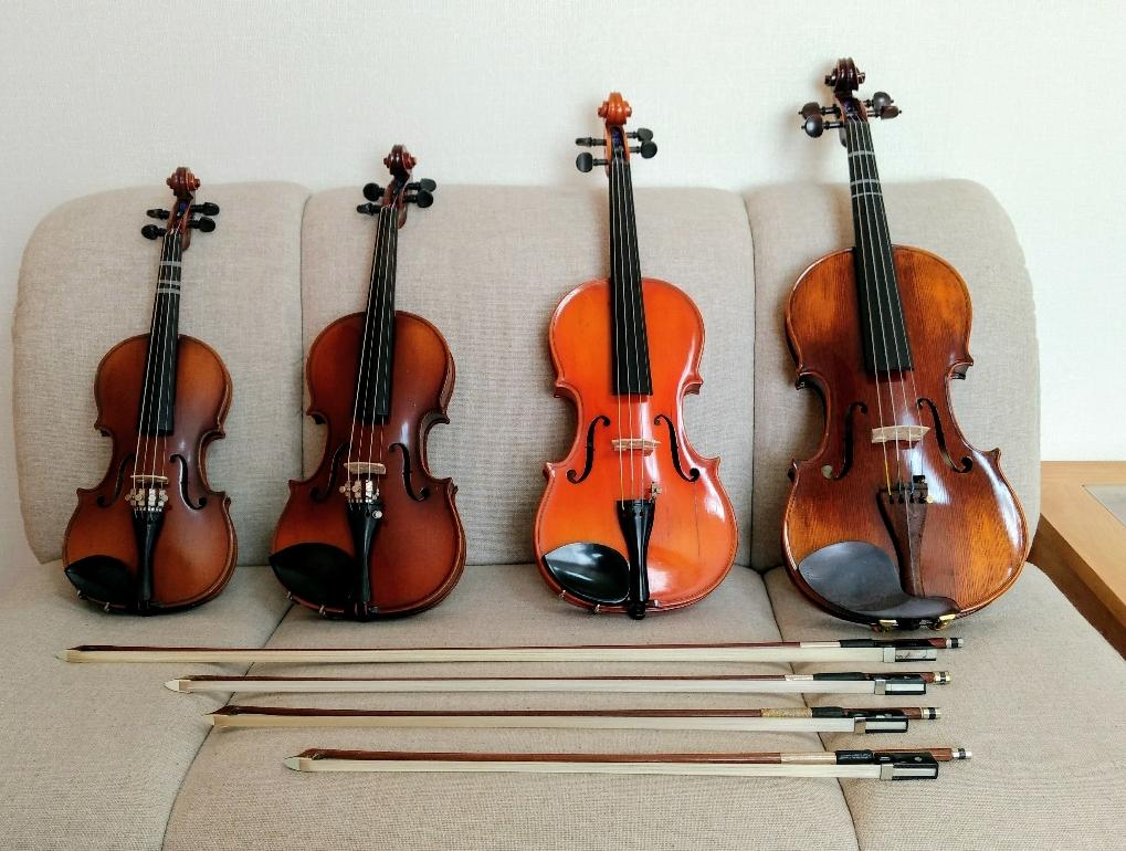 お試しレッスン用のバイオリンです。