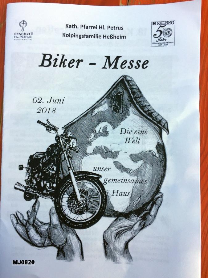 Das Deckblatt des Liedheftes zur Biker-Messe hat Iris aus Herdecke gezeichnet