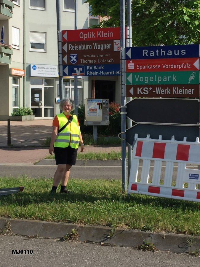 Sicherung des Kreisverkehrs im Roxheim
