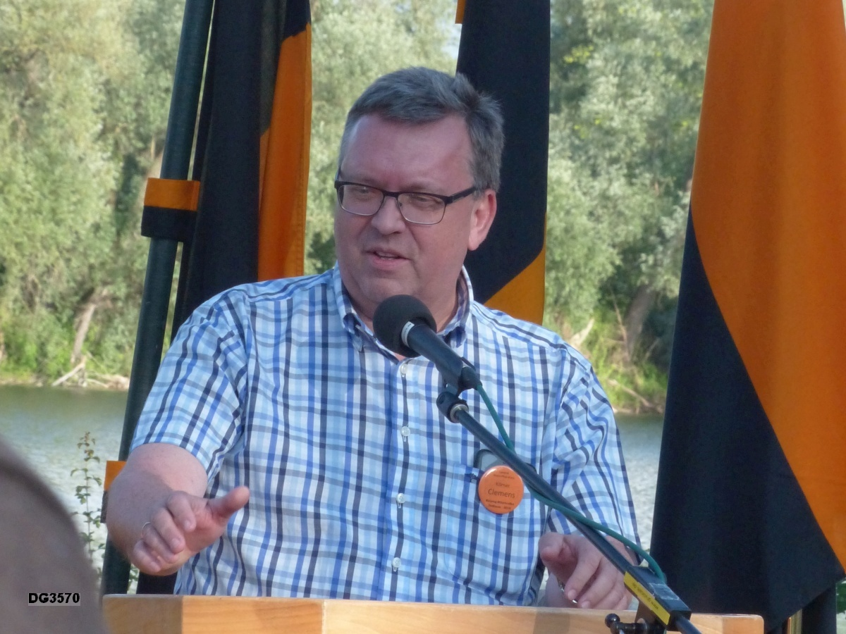 Begrüßung durch Kolpingbruder Landrat Clemens Körner (Rhein-Pfalz-Kreis)