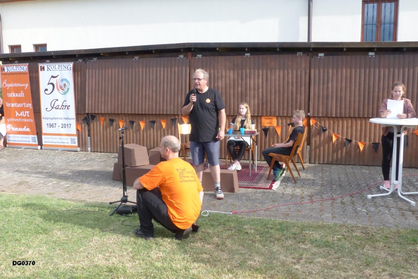 Begrüßung durch unseren Sprecher des Leitungsteam, Andreas Fensterer