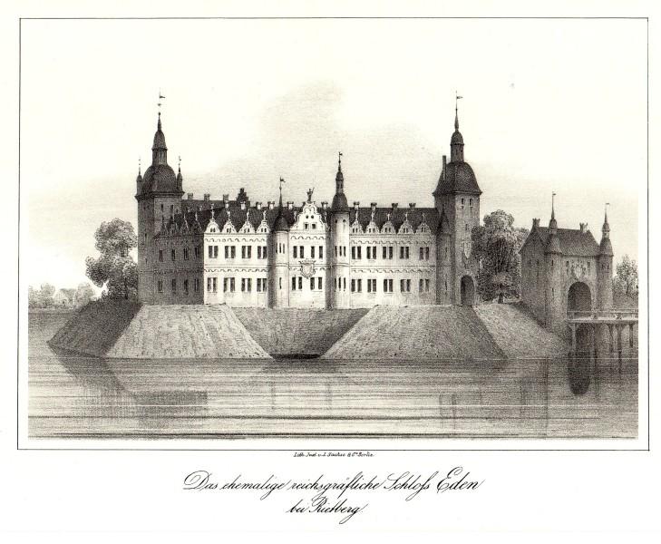 Das ehem. Schloß Rietberg. Lithographie, L. Sachse & Co., Berlin, Mitte 19. Jh.