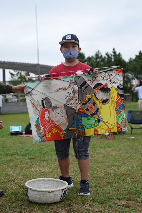日本の凧の会会長賞 東京都 西原瑞騎さん 日の出田原凧