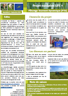 Newsletter 6 - Life PTD - Septembre 2016