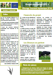 Newsletter 1 - Life PTD - Octobre 2015