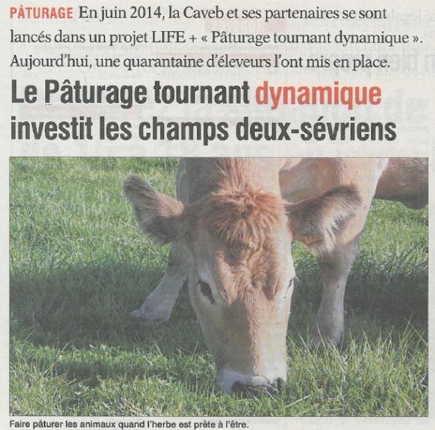 Article de presse Life PTD - AGRI 79 du 7 août 2015