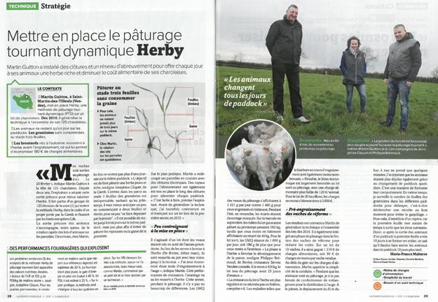Article de presse Life PTD - La France Agricole du 9 mars 2018