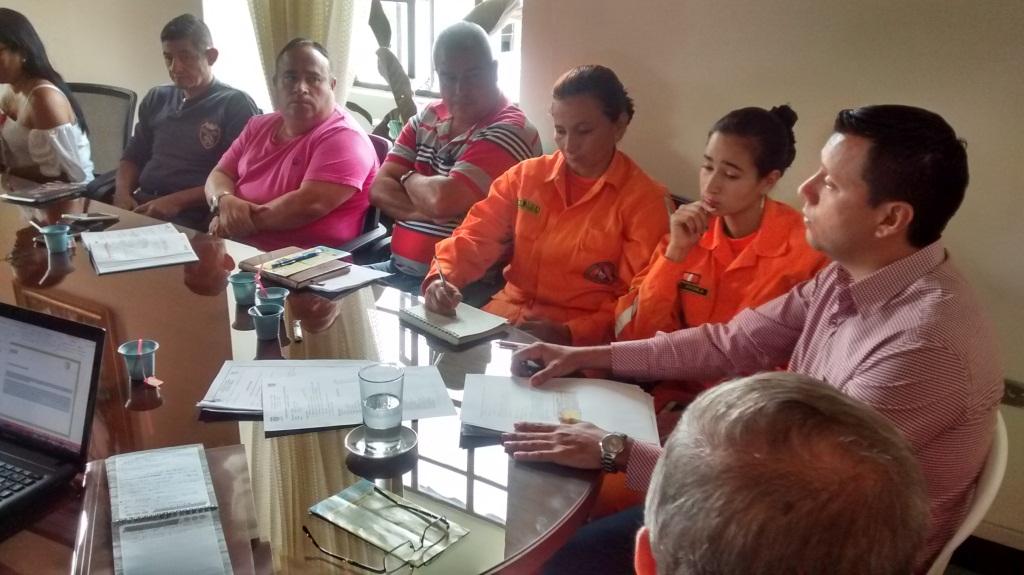 Reunión Comité Gestión del Riesgo - Inf.  Despierta Charalá