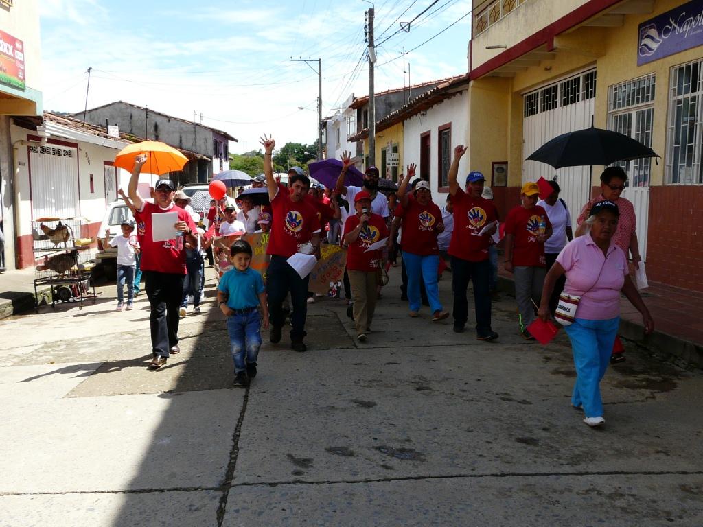 Marcha por la Vida - Foto Despierta Charalá