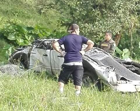 Foto Web Accidente vehicular en Charalá 31 de Julio de 2016