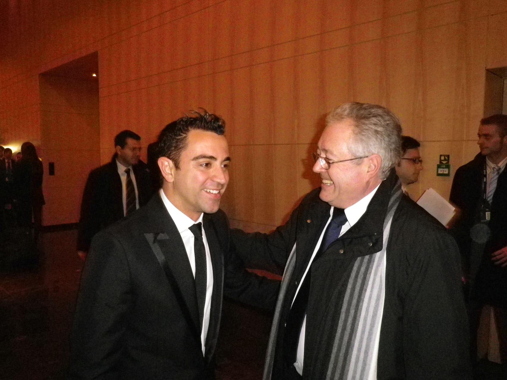 El presidente y el gran Capitan, XAVI