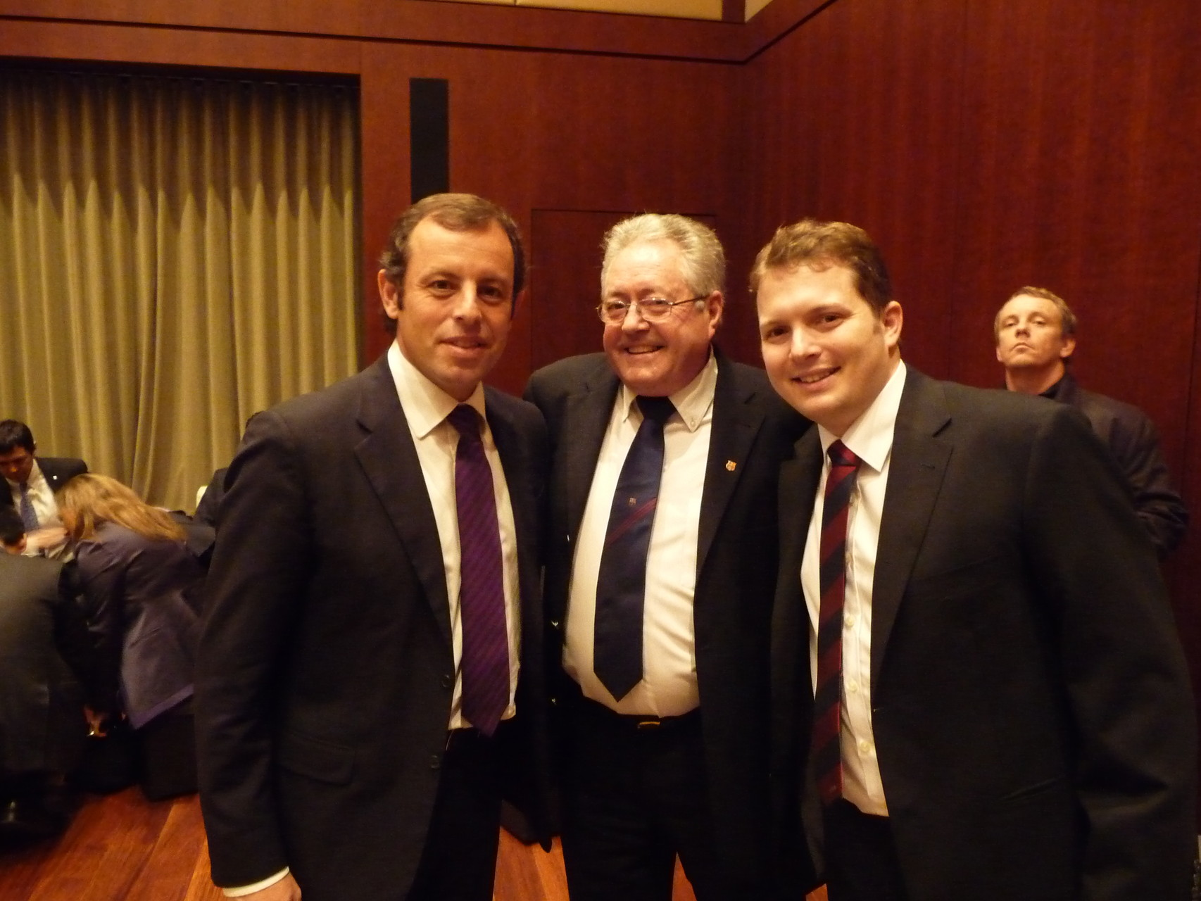 Mit dem damaligen Barça-Präsidenten Sandro Rosell