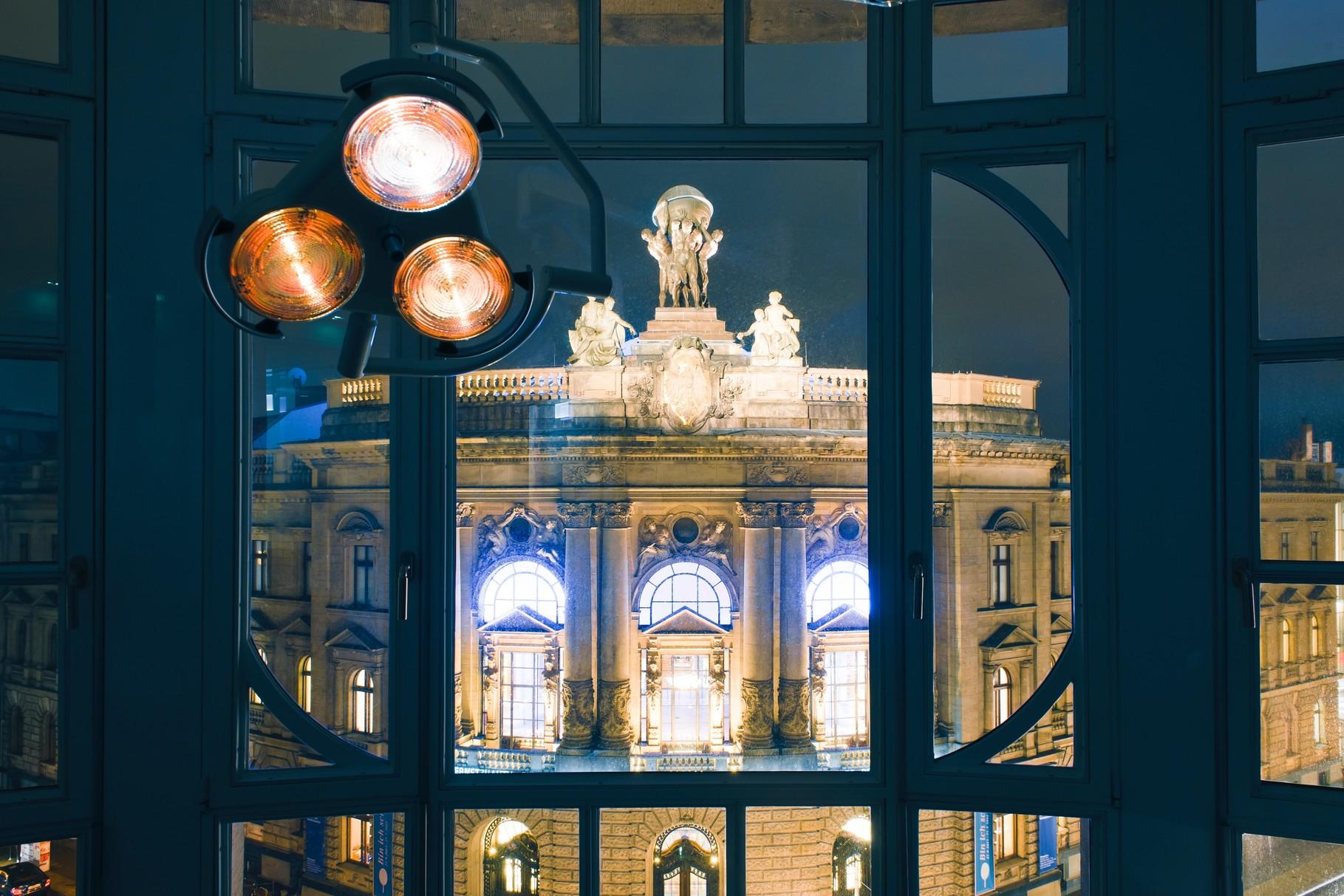 Blick auf das Museum für Kommunikation