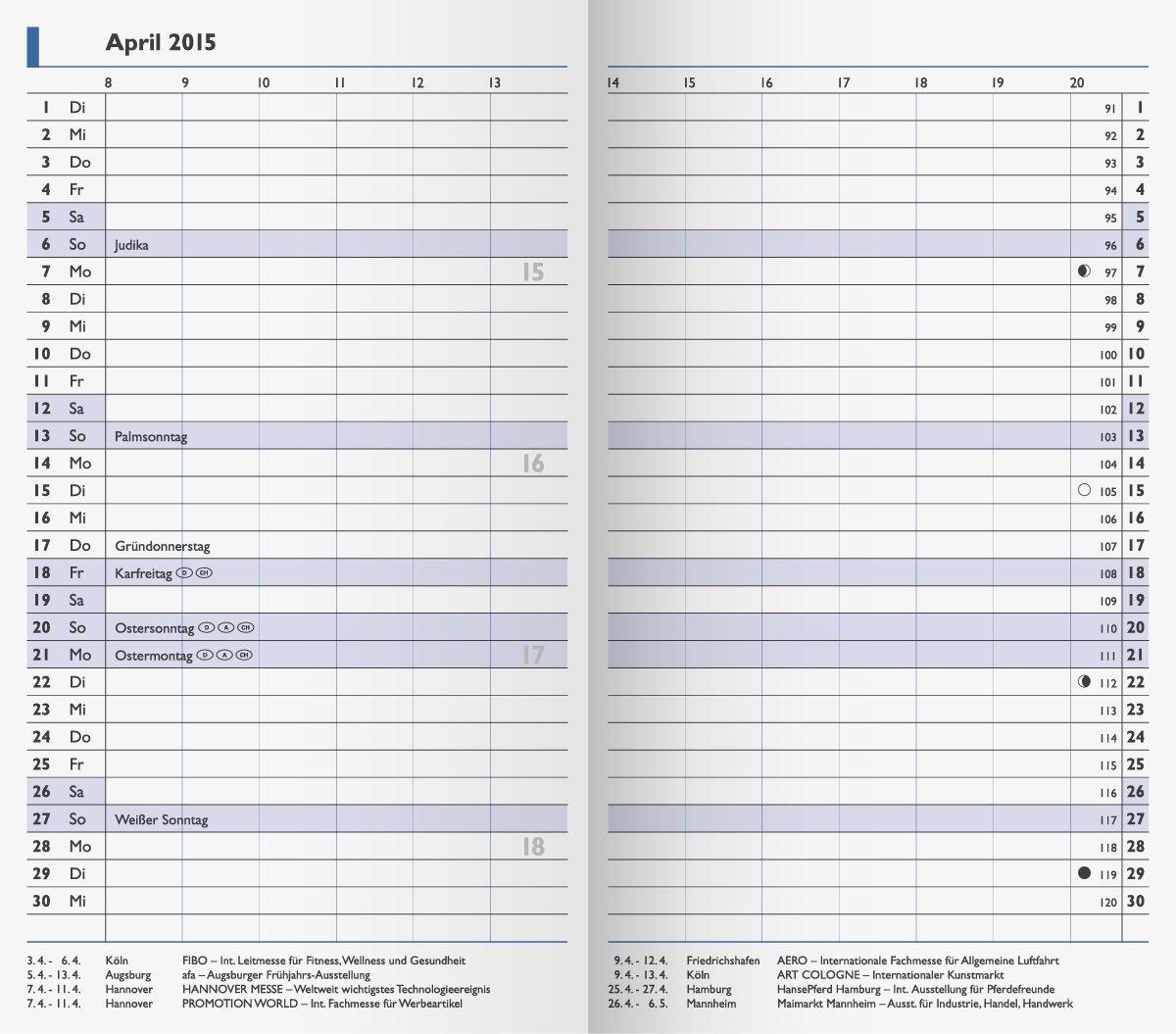 Brunnen Ersatz-Faltkalender 8,7x15,3 cm gelb 2021