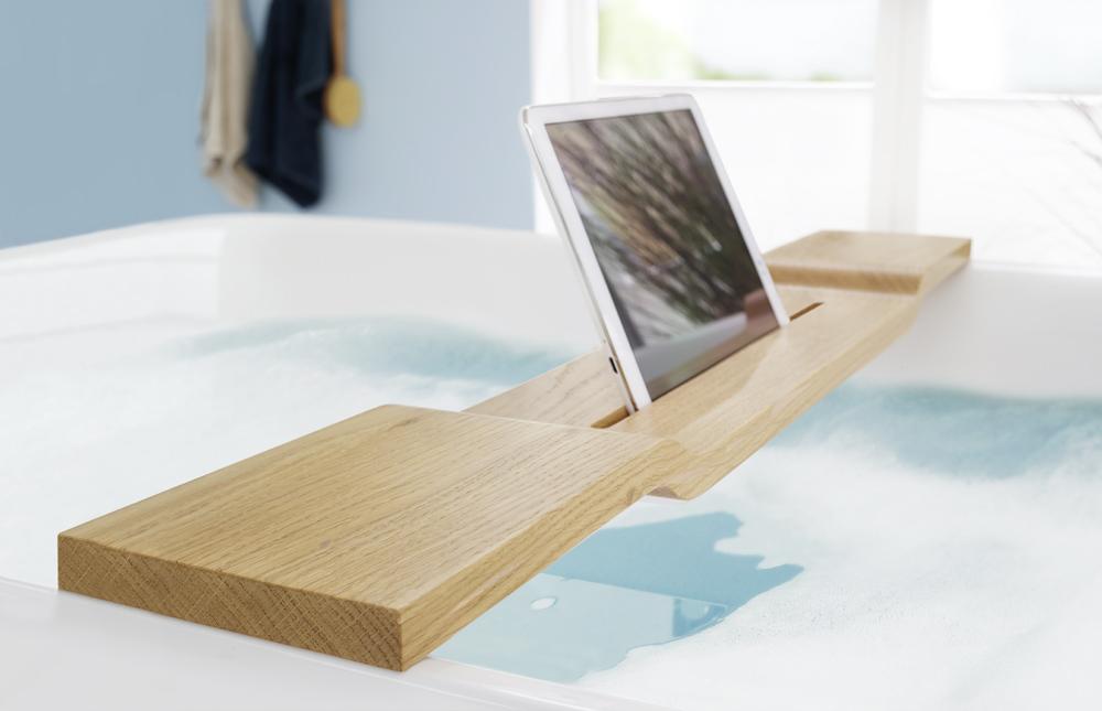 Bild: Badewannenhalterung iPad tablet, Unitymedia Webung, Halterung