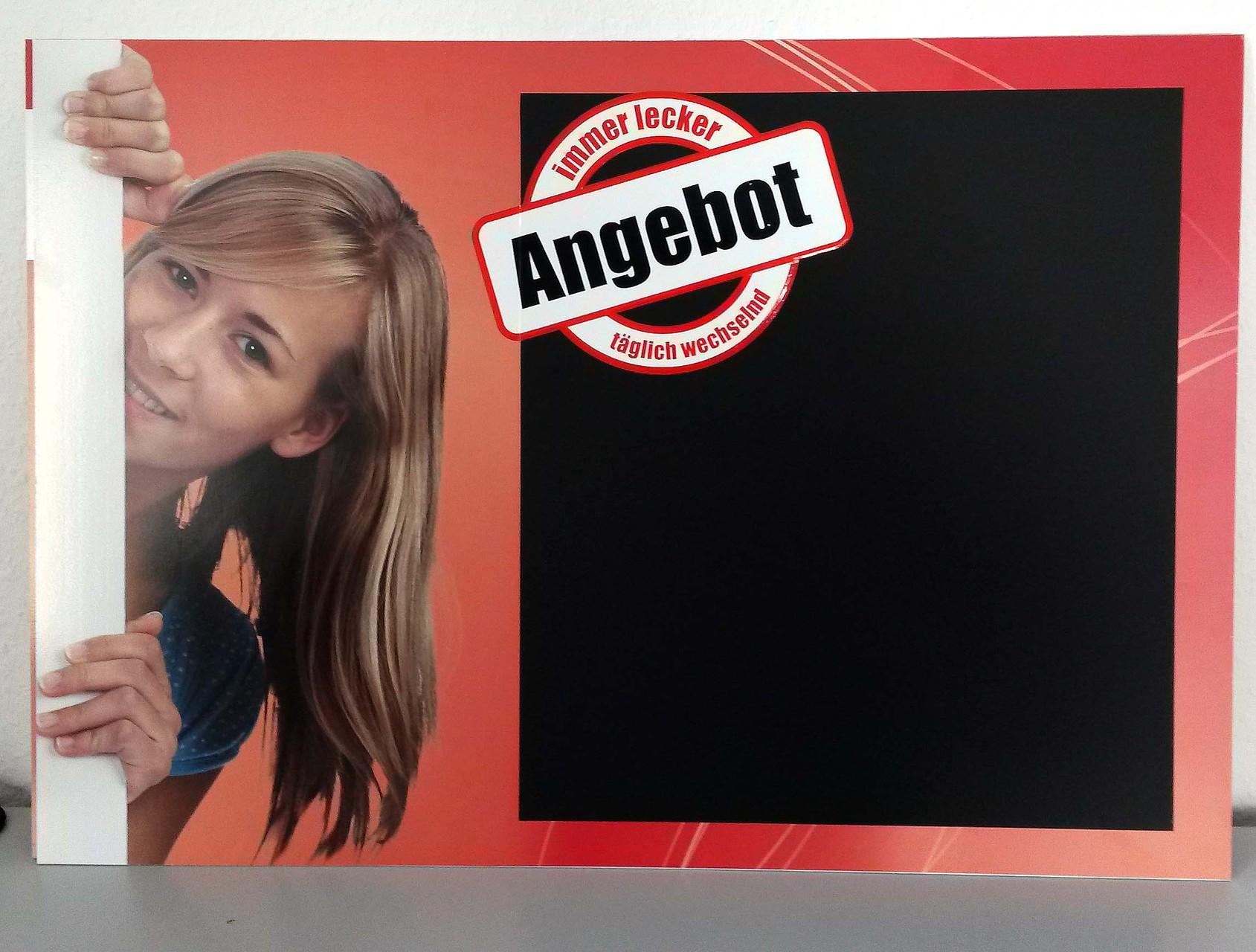 Werbeschild mit Tafelfolie