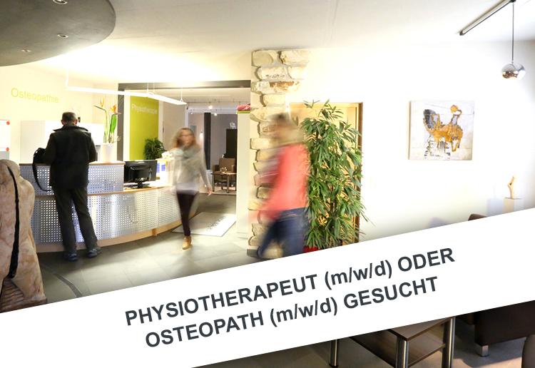 Physiotherapeut (m/w/d) oder Osteopath (m/w/d) in Teilzeit (1-2 Tage / Woche) gesucht