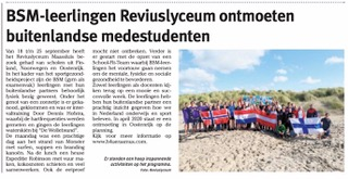 Newspaper article about meeting in the Netherlands 2019 (dutch)