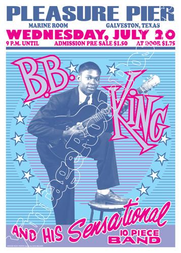 B B King Benvenuti Su Vintagerockposter