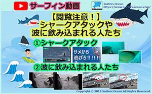 サーフィン動画 【閲覧注意!】シャークアタックや波に飲み込まれる人達 サーファーズオーシャン