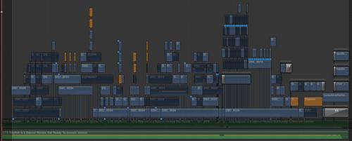 Timeline des finalen Final Cut Pro X Projektes