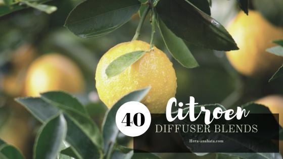 40 diffuser recepten met citroen olie