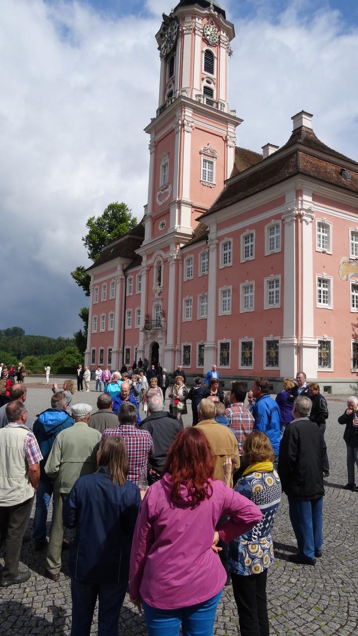 Pause beim Kloster Birnau