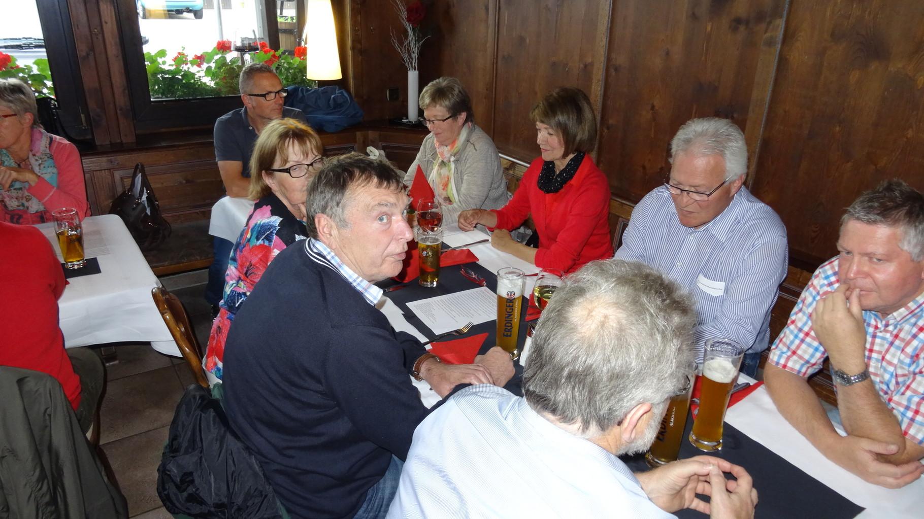 Einkehr und Abschluss im Restaurant-Café Käfer Breuningsweiler