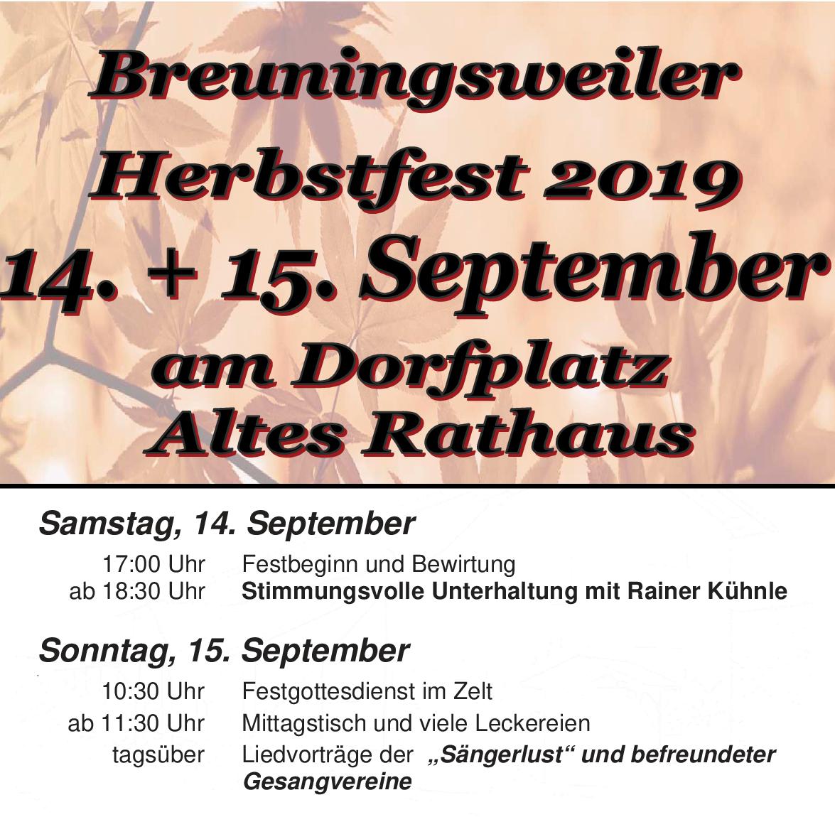 MGV Herbstfest 2019