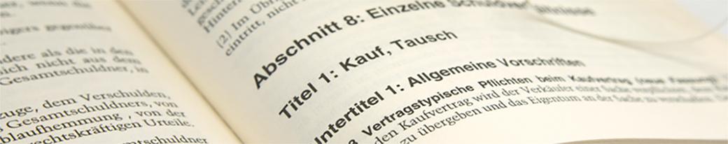 Vertriebsrecht, Wirtschaftsrecht - Inhouse Rechts Schulungen / Seminare  - IRW Institut für Recht & Wirtschaft - Dr. jur. Michael Fingerhut - München