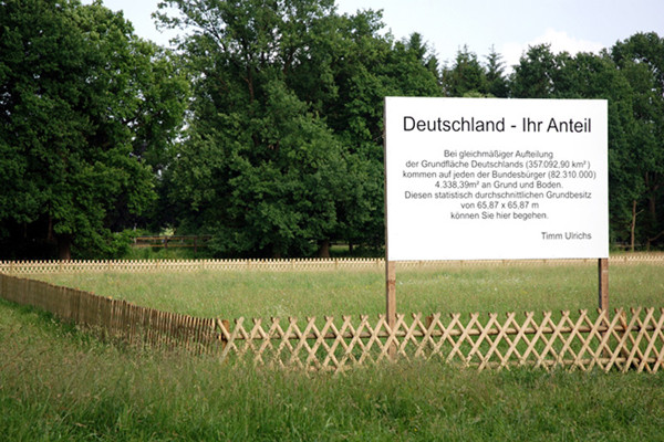 Skulpturenlandschaft 2007 (Timm Ulrichs)