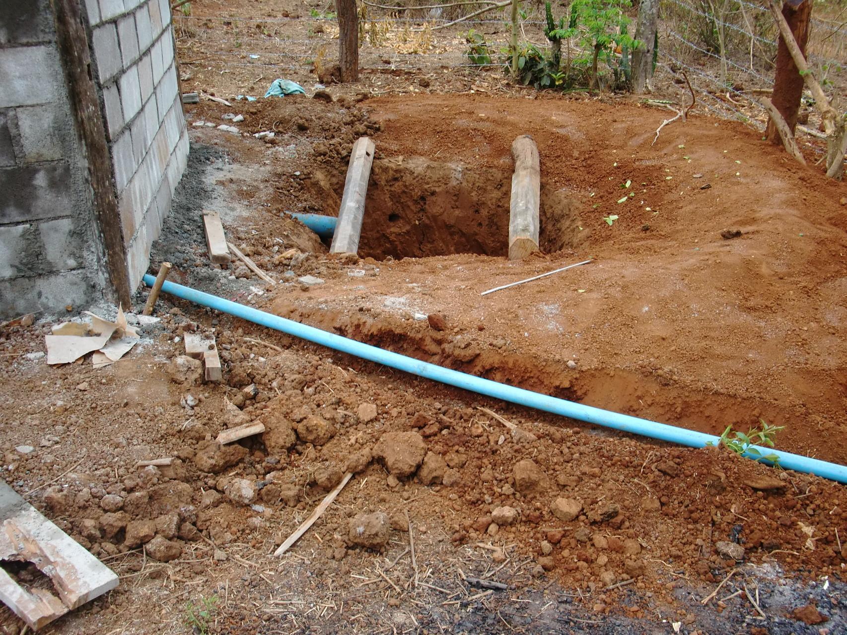 排水管を設置