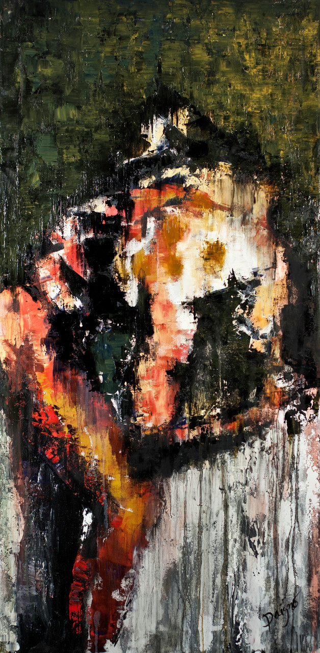 Réflexion, huile de 48 x 24