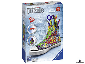 Empfehlung Ravensburger 3D-Puzzle Sneaker Graffiti Style 125357