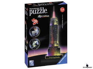 Empfehlung Ravensburger 3D-Puzzle Empire State Building Nacht 12566