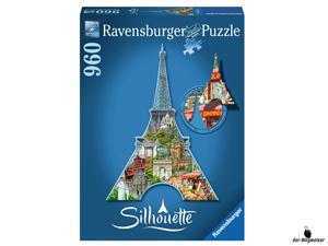 Empfehlung Ravensburger Silhouette-Puzzle Eiffelturm Paris 16152