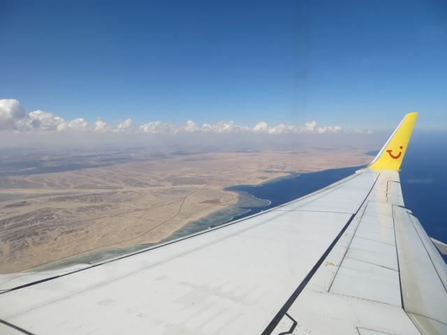 Im Anflug auf Marsa Alam