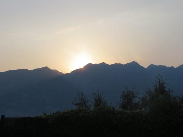 Sonnenuntergang im Restaurant Campagnola