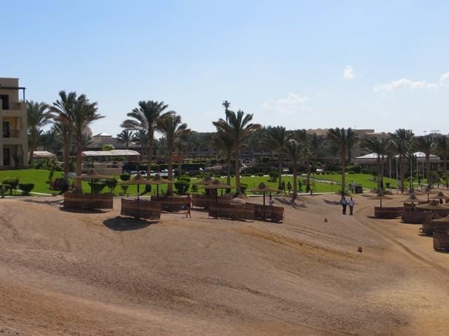 Blick auf die Hotelanlage