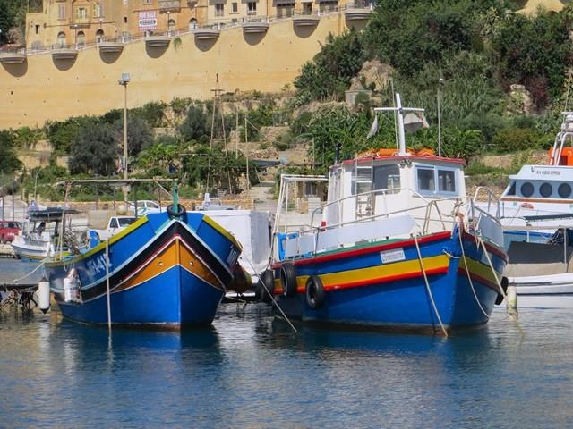 Typische Fischerboote auf Malta und Gozo