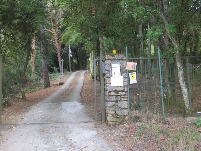 Die zufahrt zu La Rosa Canina