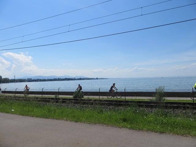 Am Bodensee ging es bei Bregenz über die Grenze