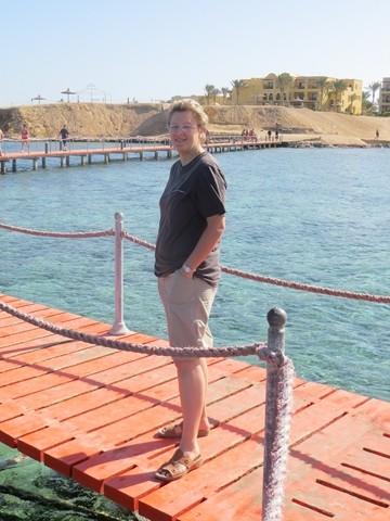 am Steg des Roten Meers