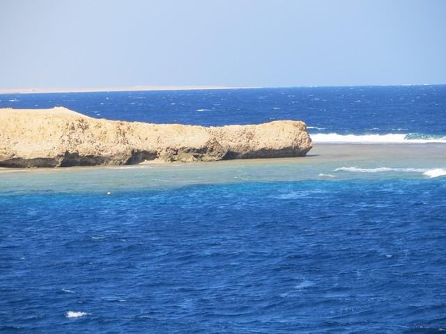 Blick über die Bucht aufs Rote Meer