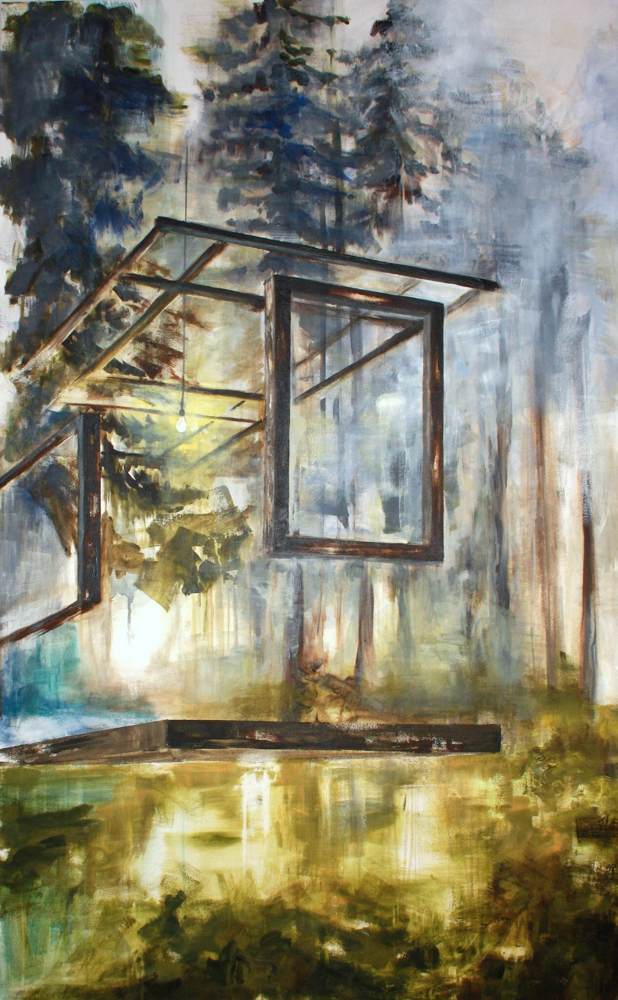Fensterraum, 160 x 100 cm, Acryl auf Leinwand, 2015.