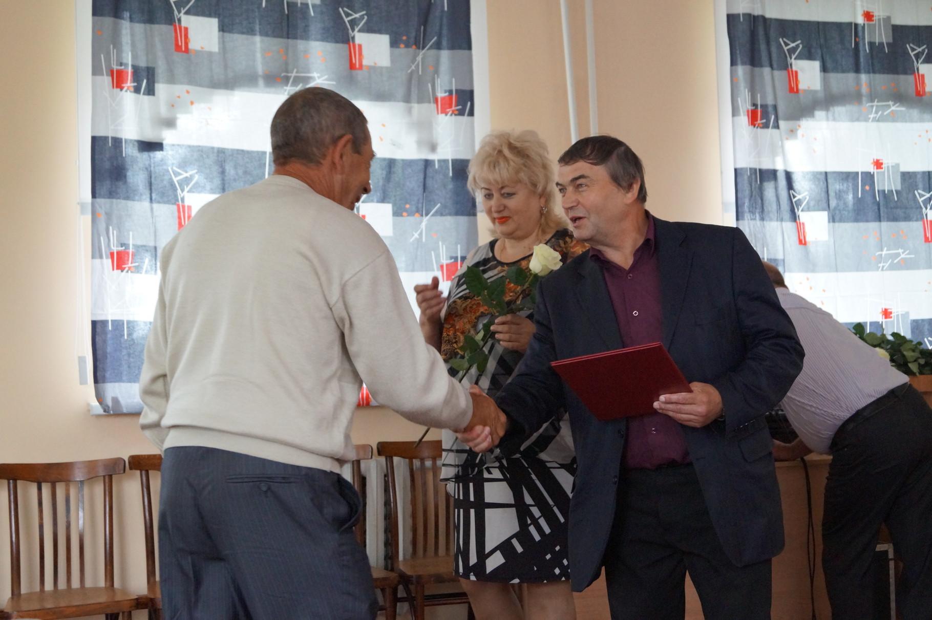 Глава района Ю.М,Долотов и первый зам. главы администрации Е.М.Яковлева