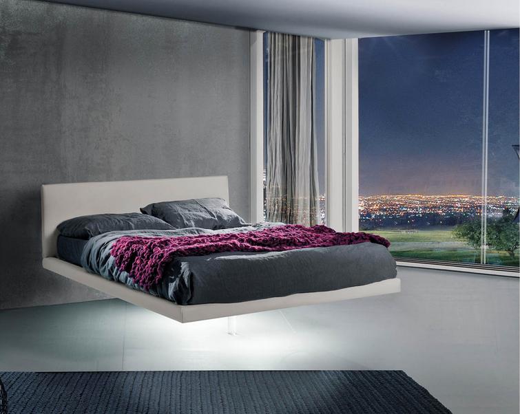 Letti Sospesi Design Moderno : Letto sospeso su parete in cartongesso e possibile