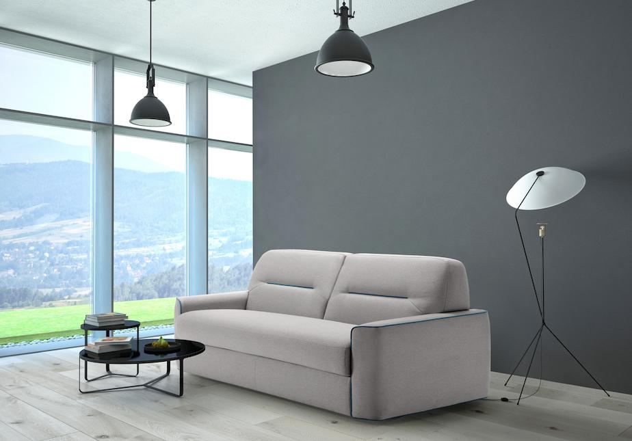 divano moderno, a elle, imbottito, colorato, economico, divano di tendenza